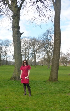 Pink Dress in the Park