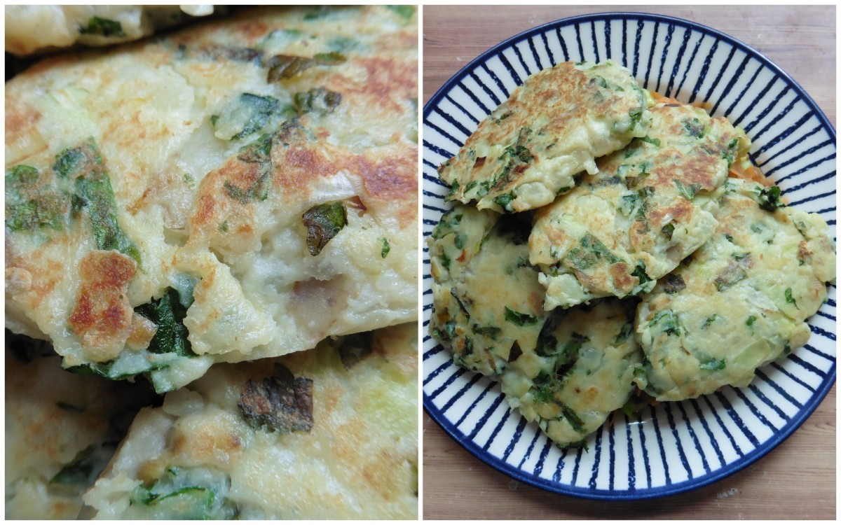 Potato and Kale Cakes | thebarethreads